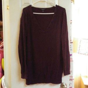 Torrid Dark Purple V Neck Sweater 3